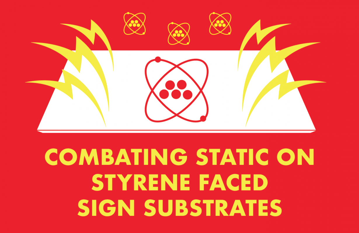 Combat Substrate Static with Styrene Faced Sign Making Materials